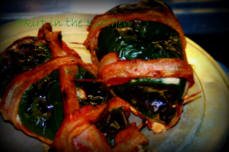 Bacon Wrapped Taco Stuffed Pablano Peppers