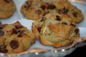 Japanese Sweet Potato Chocolate Chip Cookies with Coconut