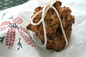 Brown Butter Fig Oatmeal Cookies with Fireball