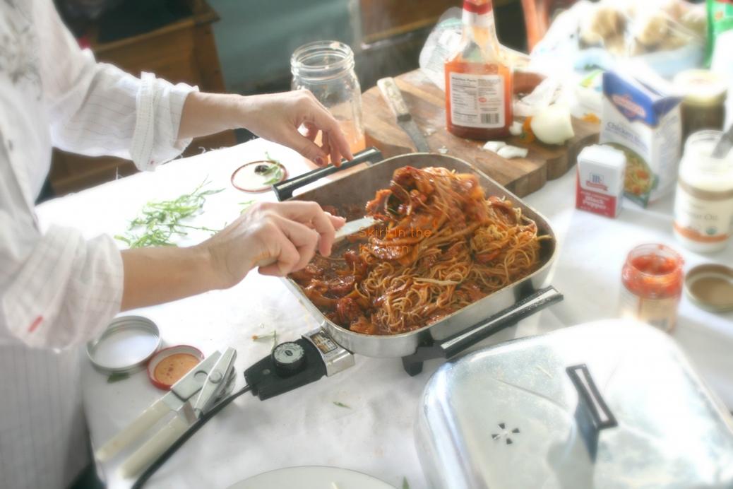 IMG_5222 Tarragon Spaghetti Kraut