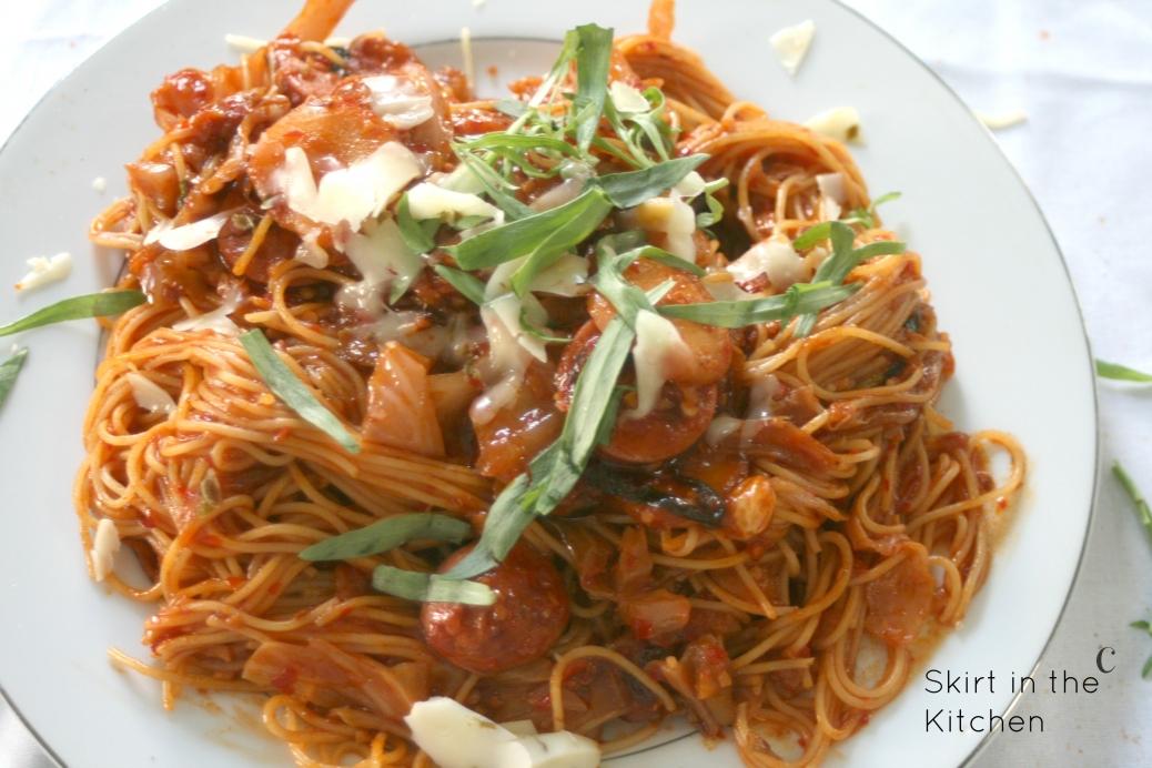 IMG_5253 Tarragon Spaghetti Kraut