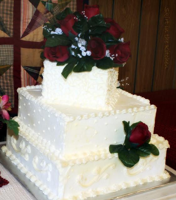 rose cake wed