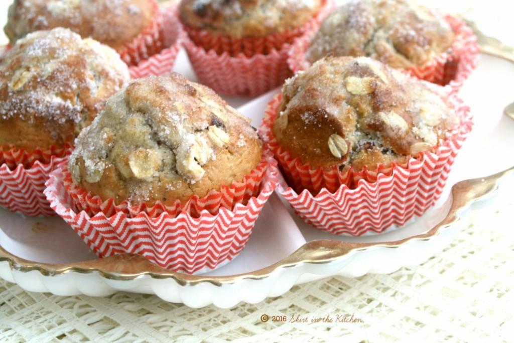 Oat Pecan Fruit Muffins