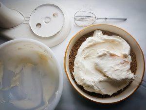 Orange Zest Cheesecake with Pistachio in the Crust