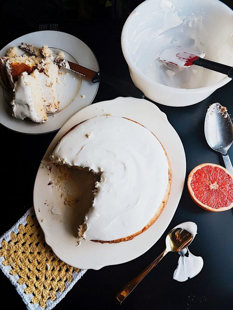 Ruby Grapefruit Coconut Cake